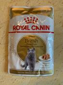 """Консервы Royal Canin """"British Shorthair Adult"""", для кошек британской породы старше 12 месяцев, мелкие кусочки в соусе, 85 г, 12 шт #8, Любовь С."""
