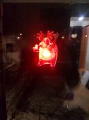 """Светодиодная фигура """"Олень"""" со сменой цвета на присоске 70x95x13 мм, цвет свечения: RGB #5, Александр К."""