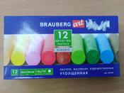 """Пастель масляная художественная для рисования Brauberg Art """"Classic"""", набор 12 цветов, утолщенная, круглое сечение #15, Анастасия К."""