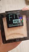 """Maybelline New York Пудра для лица """"Fit Me"""", матирующая, скрывающая поры, оттенок 102, Розово-бежевый #13, Анна С."""