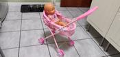 Коляска-люлька для кукол с перекидным капюшоном, металлическая, складная #5, Айна Д.