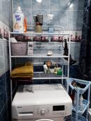 Стеллаж - полка напольная для стиральной машины трёхъярусная для ванной комнаты туалета #4, Евгения М.