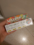 Зубная паста PresiDENT Kids Lollipop от 3 до 6 лет, со вкусом леденца, со фтором, 50 мл х 2 шт #5, Елена О.
