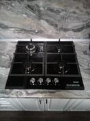 Варочная панель газовая HCG-469, стекло 4 конф, черная #5, Светлана С.