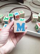 Деревянные кубики Алфавит с цифрами, Томик #6, Виктория Ч.