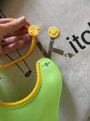 Слюнявчик детский, нагрудник для кормления ROXY-KIDS мягкий с кармашком и застежкой, цвет зеленый #12, Мария С.