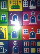 """Деревянный игровой набор Конструктор Томик """"Цветной городок"""", 41 деталь #5, Кира"""