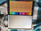 Набор капиллярных ручек линеров STABILO Point 88, 47 цветов, 50 штук, металлический футляр #2, qaw