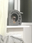 "Домик для животных Eva ""Будка WELCOME"", войлок, 33х33х45см #2, Анна А."