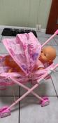 Коляска-люлька для кукол с перекидным капюшоном, металлическая, складная #3, Айна Д.