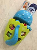 Органайзер-ковш детский для ванной для игрушек для купания DINO от ROXY-KIDS c полкой, цвет зеленый #11, Феруза Р.