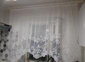 """Тюль для кухни Zlata Korunka """"Zlata Korunka"""" высота 160 см, ширина 250 см, крепление - Зажимы, белый #1, Валентина С."""
