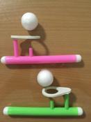 """Логопедическая игра-тренажер для развития речевого дыхания у детей """"Аэробол"""", развивающий набор из 2 дудочек с парящим шариком #4, Маврина Е."""