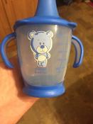 Чашка-непроливайка, Canpol Babies  180 мл. Медвежонок 9+, цвет: синий #11, Татьяна Б.