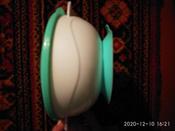 """Набор детской посуды """"Зайчик"""", 3 предмета, цвет бирюзовый #3, Ксения Л."""