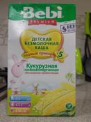 Bebi Премиум каша Кукурузная низкоаллергенная с пребиотиками, с 5 месяцев, 200 г #4, Лилия Ф.