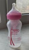 Бутылочка для кормления Dr. Brown's Options+, антиколиковая с широким горлышком, Розовая, 270 мл #11, Татьяна В.