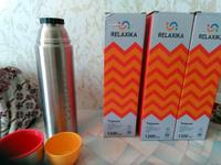 Термос Крышка-чашка, Вакуумный Relaxika, 1.2 л #5, Киселева А.
