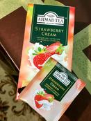 Ahmad Tea Strawberry Cream черный чай в пакетиках, 25 шт #15, Татьяна Е.