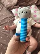 Игрушка пищалка для самых маленьких: Котёнок Кекс, Мякиши #5, Анна Р.