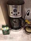 Кофеварка электрическая Капельная Kitfort KT-732, серебристый #13, Елена Н.