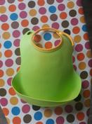 Слюнявчик детский, нагрудник для кормления ROXY-KIDS мягкий с кармашком и застежкой, цвет зеленый #10, Екатерина