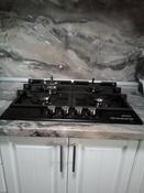 Варочная панель газовая HCG-469, стекло 4 конф, черная #1, Светлана С.