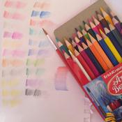 Акварельные карандаши ArtBerry, шестигранные, с кисточкой, 24 цвета #10, Виталина М.