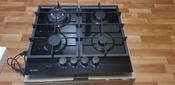 Варочная панель газовая HCG-469, стекло 4 конф, черная #8, Зухрания К.