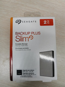 2 ТБ Внешний жесткий диск Seagate Backup Plus Slim (STHN2000401), серебристый #9, Павел Б.