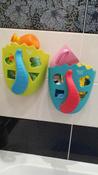 Органайзер-ковш детский для ванной для игрушек и для купания DINO от ROXY-KIDS, цвет зеленый/голубой #9, Альбина Д.