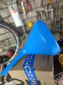 """Воронка пластмассовая большая """"Звезда"""" 195/26 мм с сеткой, голубая #11, Рустам З."""