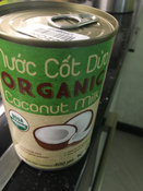 Кокосовое молоко органическое VietCOCO 73% без сахара растительное в жестяной банке 400 мл #11, Anna A.