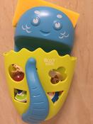 Органайзер-ковш детский для ванной для игрушек для купания DINO от ROXY-KIDS c полкой, цвет зеленый #13, Яна