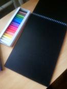 """Пастель сухая художественная для рисования Спектр """"Петербургская"""", набор 18 цветов, круглое сечение #1, Александра Г."""