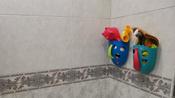 Органайзер-ковш детский для ванной для игрушек для купания DINO от ROXY-KIDS, цвет мятный/коралловый #1, Анна Х.
