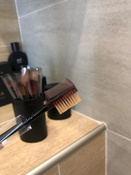 Набор кистей для макияжа черный12 шт + футляр подставка #6, Марк Р.