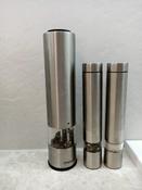 Набор автоматических мельниц для соли и перца Kitfort KT-2028, серебристый #2, ольга