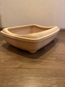 Туалет для кошек PetTails глубокий, большой (под наполнитель) 50*38*13см, бежевый #13, Маргарита Ш.