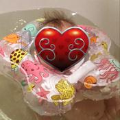 Happy Baby Круг для плавания Aquafun #4, Лилия