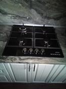 Варочная панель газовая HCG-469, стекло 4 конф, черная #6, Светлана С.