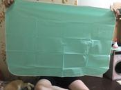 Клеенка подкладная резиновая с ПВХ-покрытием ROXY-KIDS 68х100 см, цвет бирюзовый #3, Анастасия А.