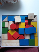 Деревянный конструктор Томик Цветной, игровой набор из 43 деталей #4, Анастасия К.