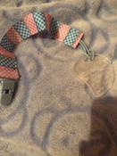 Прорезыватель/грызунок/игрушка для детей на держателе ROXY-KIDS, цвет голубой-розовый (клеточка) #7, Диана Ю.