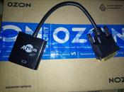Переходник ATcom 0.1 m  DVI-D dual link (male) - VGA (female)  #7, Елизавета Б.