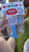 Игрушка пищалка для самых маленьких: Котёнок Кекс, Мякиши #4, Софья П.