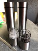 Набор автоматических мельниц для соли и перца Kitfort KT-2028, серебристый #11, Дарья К.