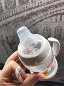 NUK FC+ Обучающая бутылочка ДИСНЕЙ Винни с силиконовой насадкой и ручками - Бежевая (150 мл.) #5, Алёна К.