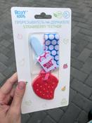 Прорезыватель/грызунок/игрушка для детей на держателе ROXY-KIDS, цвет голубой-розовый (кружочек) #8, Ирина Л.