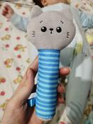 Игрушка пищалка для самых маленьких: Котёнок Кекс, Мякиши #3, Софья П.